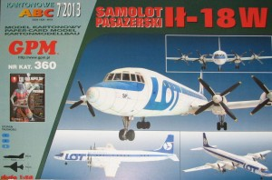 IŁ-18W LOT airliner 1:50 / GPM 360